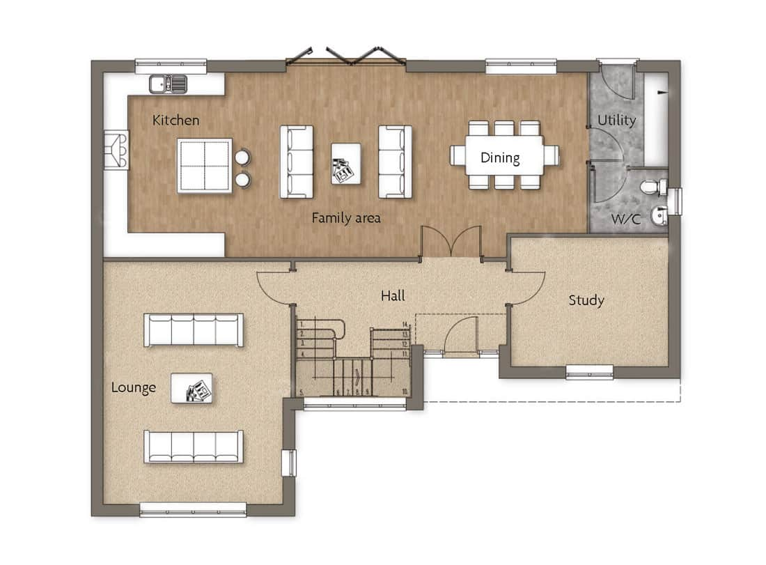 ground-floor-Beck-House-Woodborough-Dovecote-View-Swan-Homes