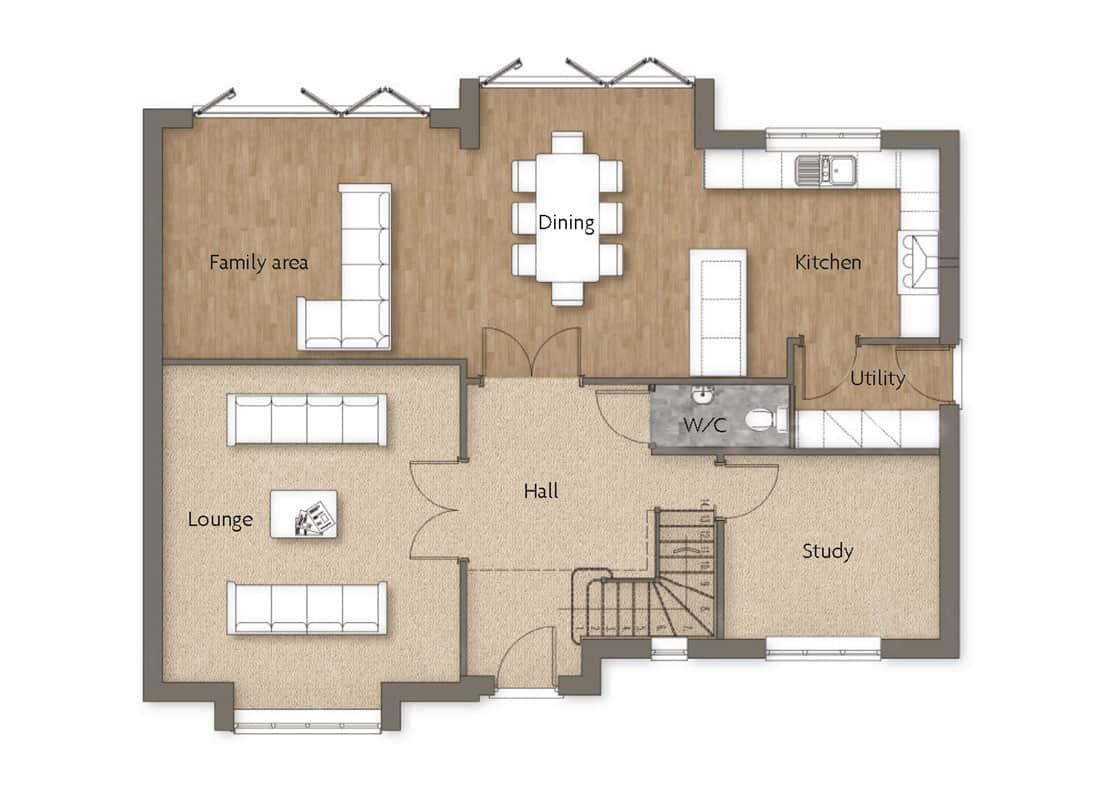 ground-floor-Foxwood-Woodborough-Dovecote-View-Swan-Homes