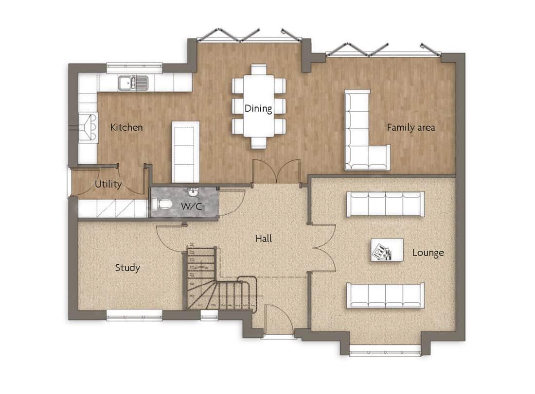 ground-floor-Oak-Lea-Woodborough-Dovecote-View-Swan-Homes